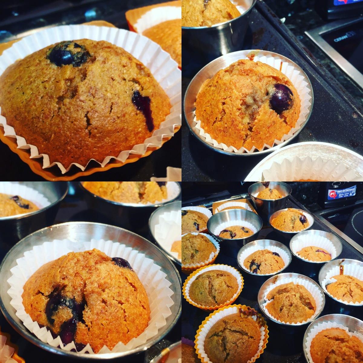 Cupcakes saludables de arándanos y manzana SIN azúcar  Very healthys!
